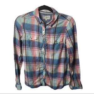 Fat face classic fit button down shirt womens 12